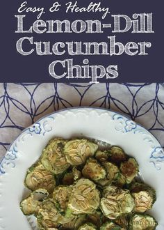 These easy lemon and dill cucumber chips are so delicious! Finally a snack you…