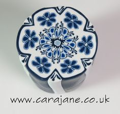 Blue Thing a Days – Delft inspired cane | Cara Jane Polymer Clay