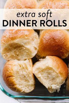 Soft Rolls Recipe, Butter Roll Recipe, Roll Dough Recipe, Bread Dough Recipe, Basic Bread Recipe, Dinner Rolls Easy, Homemade Dinner Rolls, Easy Homemade Rolls, Fluffy Dinner Rolls