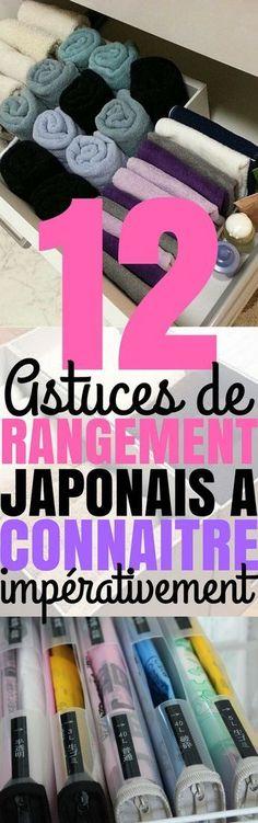 Vous le savez peut-être, mais le Japon est l'un des pays les plus densément peuplés au monde. Au Japon, chaque espace compte, aussi bien à l'extérieur qu'à l'intérieur. C'est pourquoi leurs astuces de rangement sont très intéressantes quand on a peu d'espaces chez soi. Que vous viviez en appartement ou en maison, ces 12 astuces de rangement vous plairont forcément. #rangement #japonais #astuces #idéesrangement Home Projects, Home Crafts, Diy And Crafts, Home Organisation, Organization Hacks, Home Management, Home Hacks, Home Staging, Getting Organized