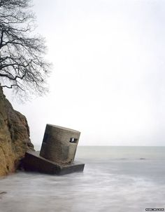 Studland Bay, Dorset, England, 2011\Photo by Marc Wilson. Remains of coastal defences from WW2 World War Two, Bunker, Dorset England, Last Stand, Fortification, Pill Boxes, Burg, Monumental Architecture, Mystic Places