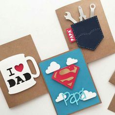 Fathers day cards, diy for fathers day, mothers day cards, diy cards for da Happy Fathers Day Cards, Fathers Day Crafts, Mothers Day Cards, Fathers Day Ideas, Fathers Day Cards Handmade, Fathers Day Presents, Handmade Birthday Cards, Father Birthday, Birthday Diy