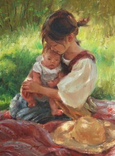Available Paintings by artist Trent Gudmundsen In Her Nature Illustration Photo, Paintings I Love, Mother And Child, Beautiful Paintings, Oeuvre D'art, Love Art, Painting Inspiration, Amazing Art, Art For Kids