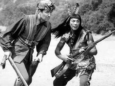 Fess Parker and Ed Ames in Daniel Boone (Daniel and Mingo).