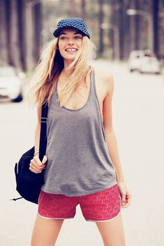 Fast track your style #CampusShort #Tank #CuteCap
