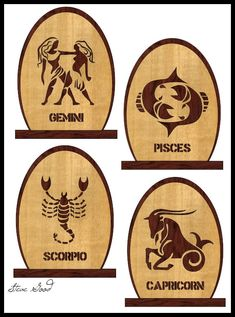 Christmas Scroll Saw Patterns | scroll saw patterns for the 12 signs of the zodiac each plaque will ...