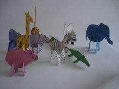Animales armables en cartón