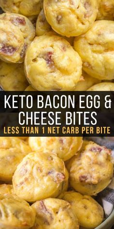 The perfect easy keto breakfast! Try these Keto Bacon Egg and Cheese Bites for a. The perfect easy keto breakfast! Try these Keto Bacon Egg and Cheese Bites for an easy grab and go breakfast! Less than one net carb per bite! Clean Eating Recipes, Clean Eating Snacks, Clean Eating Breakfast, Eating Raw, Ketogenic Recipes, Diet Recipes, Recipes Dinner, Slimfast Recipes, Easy Keto Recipes