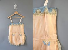 1920s Teddy / 20s Silk Step In  / Lingerie. $112.00, via Etsy.