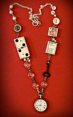 Original Ideas for Repurposing Vintage Jewelry Idee originali per riproporre gioielli vintage - Live Key Jewelry, Funky Jewelry, Recycled Jewelry, Wire Jewelry, Jewelry Crafts, Jewelry Art, Antique Jewelry, Beaded Jewelry, Jewelery