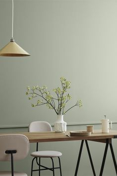 Fargetrender vår 2019 Pastel Walls, Colorful Decor, Colorful Interiors, Kitchen Interior, Room Interior Design, Minimalist Home, Wall Colors, House Colors, Home Living Room