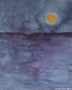 An den Mond/Aquarell  ©Tobias Windlinger