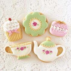 Tea Set cookies // Fiocco
