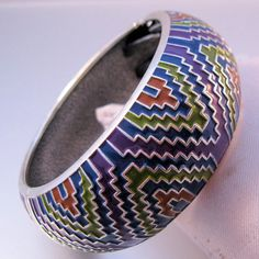 Fashion Enamel Geometric Hinged Clamper by BrightEyesTreasures, $19.99