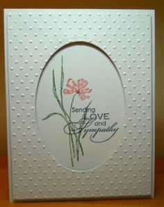 Sympathy Framed in Dots by susanbri - Cards and Paper Crafts at Splitcoaststampers