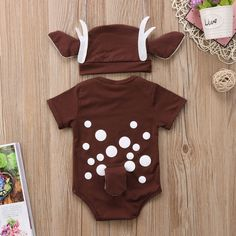 Pudcoco Deer Baby Clothes Infant Baby Boy Girl Cartoon Deer Romper+long ear hat Christmas baby clothes xmas Costume for new year Christmas Baby, Family Christmas Outfits, Reindeer Christmas, Christmas Items, Merry Christmas, Xmas Costumes, Baby Costumes, Mermaid Costumes, Pirate Costumes