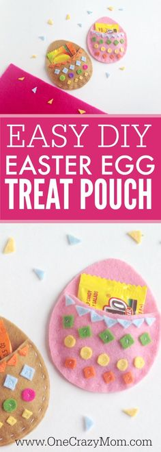Make this DIY Easter Treat Pouch! It's so fun and perfect for a little bag of candy. DIY Easter crafts are so fun! Try this Easter Craft for kids today! crafts with candy DIY Easter Treat Pouch - Easter Craft Ideas for Kids Diy Projects Easter, Easter Crafts For Kids, Craft Projects, Easter Decor, Spring Crafts For Kids, Crafts For Kids To Make, Easter Candy, Easter Treats, Easter Eggs