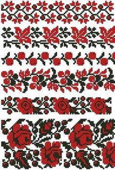 Украинские узоры - Узоры и орнаменты - Схемы вышивки - Иголка