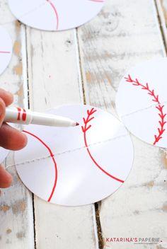 DIY Paper Baseball Party Bunting