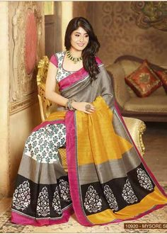 Look Graceful with Kritika Kamra Saree -Multicolor Bhagalpuri Silk Saree Shop Now @ http://zohraa.com/multicolor-bhagalpuri-silk-saree-vipul10920-e.html SKU: Vipul10920_E Rs. 649/- (Your order will be shipped within 1 day from the date of purchase)