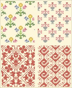 All over pattern for cross-stitch or knitting.