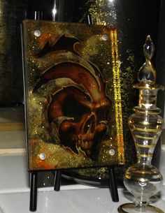 Soul Reaper Hand Painted Glass Art by GlassByPriscilla on Etsy, $49.99