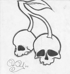 skull cherries by HeartLies.deviantart.com on @deviantART
