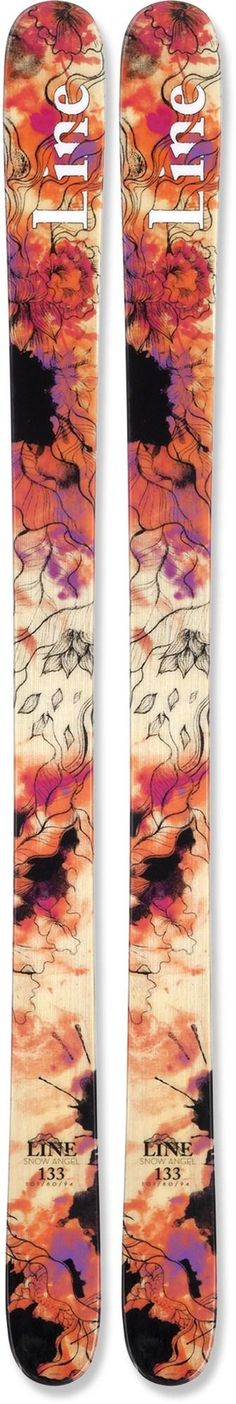 Retire those other skis and let your girl step up to the lightweight, durable Line Snow Angel skis. #REIGifts