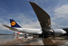 "Lufthansa Boeing 747-830 D-ABYA ""Brandenburg"" on a turnaround at Washington-Dulles, June 2012. Arriving as LH416 from Frankfurt-Main, the first commercial Transatlantic flight of the newest variant of the Jumbo Jet was a success. (Photo: Gordon Gebert Jr)"