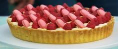James Morton's Rose, lychee and raspberry tart