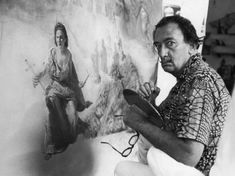 Salvador Dali painting Helena of Port Lligat, 1956