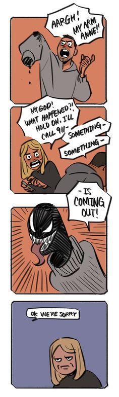 This is how Eddie tells Anne Venom is still around Marvel Dc Comics, Venom Comics, Marvel Venom, Marvel Jokes, Marvel Funny, Marvel Art, Funny Comics, Marvel Avengers, Venom Movie