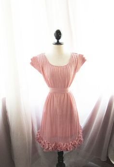 Romantic Spring Soft Misty Peach Dusty Pink Rose by RiverOfRomansk, $49.80