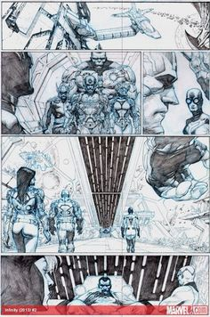 Infinity #2 preview pencils by Jerome Opena: