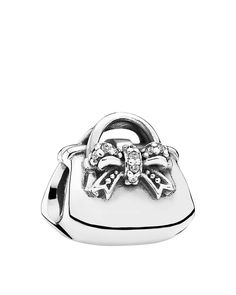 Pandora Charm - Sterling Silver & Cubic Zirconia Sparkling Handbag, Moments Collection