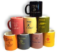 Simple DIY ideas & Crafts...: Hand Painted Coffee Mugs...
