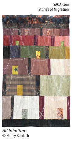 """Ad Infinitum"" - art quilt by Nancy Bardach"