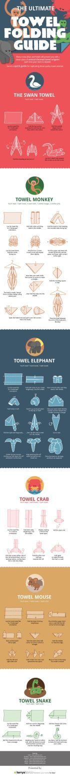 learn to fold towels in the shape of animals