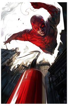 Daredevil roof jump by ChristianNauck - Geek Art. Follow back if... #comics #art