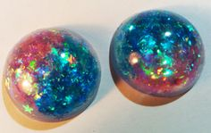 CUSTOM Confetti Lucite GAUGED earrings YOUR size by misstayva, $50.00