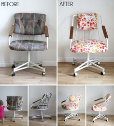 DIY: UPDATING AN OLD OFFICE CHAIR
