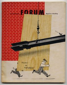 THE ARCHITECTURAL FORUM. 1947. [Volume 86, Number 4]. Cover Design by Gene Federico. Book And Magazine, Magazine Covers, Olle Eksell, Max Huber, Herbert Matter, Alexey Brodovitch, Rene Gruau, Vintage Graphic Design, Art And Architecture