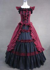 Beautiful Black and Red Classic Gothic Victorian Dress 2013 on www.SaleLolita.com