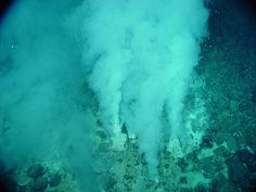 UNDERWATER:The Deep sea vents, (this is Champagne vent), a hydrothermal vent, fissure in the planets surface, this is from the Northeast Eifuku volcano