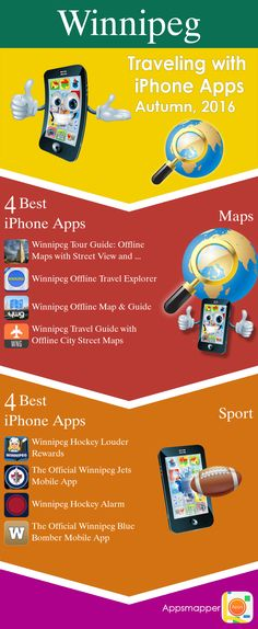 Winnipeg iPhone apps: Travel Guides, Maps, Transportation, Biking, Museums, Parking, Sport and apps for Students.