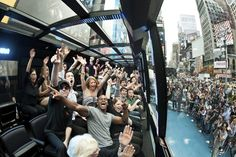 Whiz through NYC aboard a theatrical bus that's part-show, part-city tour with Midtown Manhattan as center stage Travel past famous landmarks and learn the history behind this world-renown city in this interactive experience Enjoy the entertaining actors and performers partaking in this dazzling bus tour