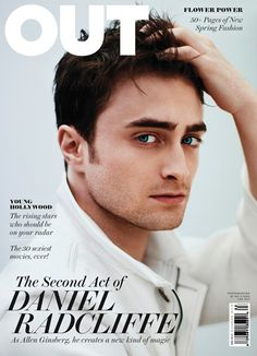 'Harry Potter' Star Daniel Radcliffe cover the March 2013 issue of Out magazine, photographed by Kai Z Feng.