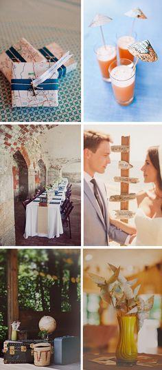 travel themed weddings Travel Theme Destination Wedding Ideas