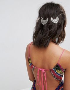 ASOS Filigree Drop Back Hair Chain - Copper