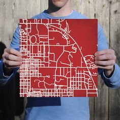 indiana university map print - might be a cool idea to make a UGA or Bowdin print map for the house.